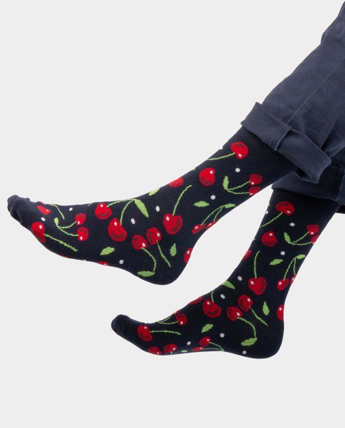 Cherry socks on legs, Colorful socks, Scented Socks, OhSox