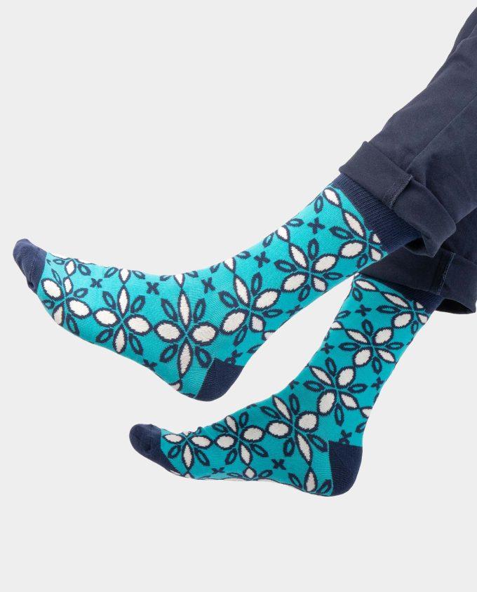Ice Flowers on legs, Colorful socks, Scented Socks, OhSox