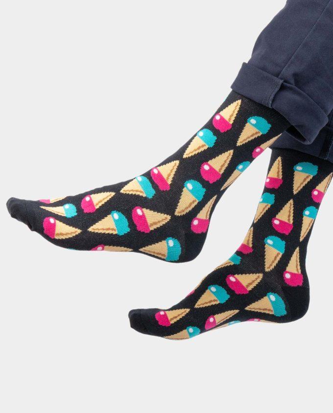 Ice Cream socks on legs, Colorful socks, Scented Socks, OhSox