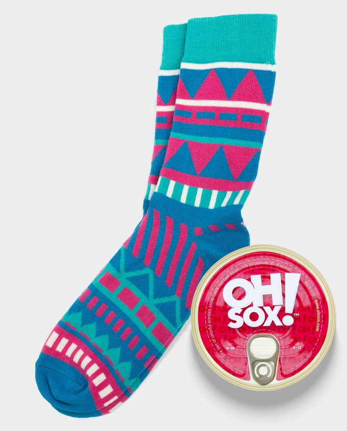 Oh Sox, Colorful scented socks Aruba Pink