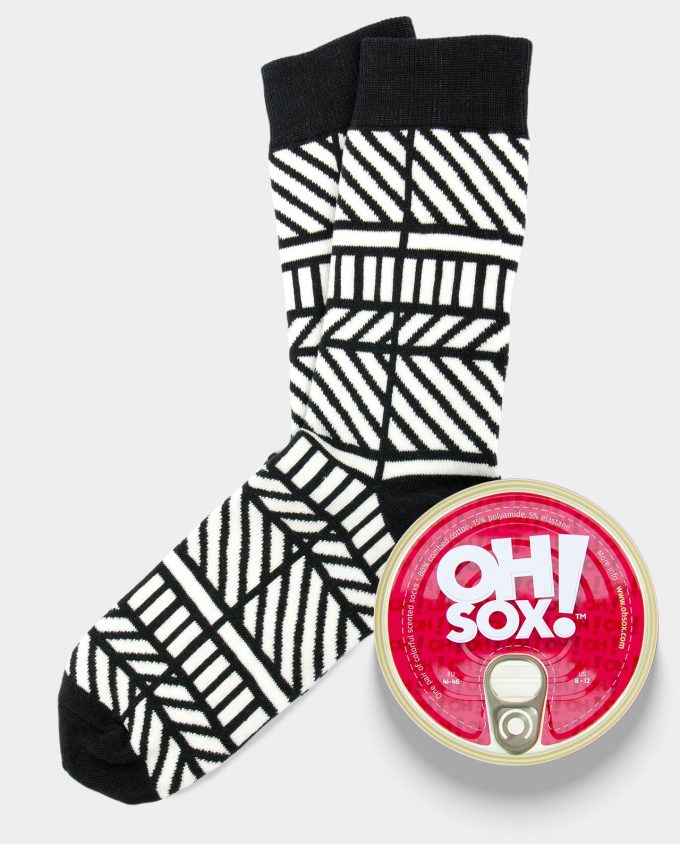 Oh Sox Colorful scented socks Monochrome