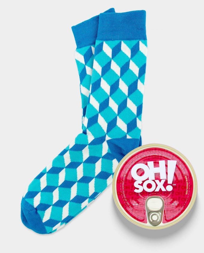 Oh Sox,Colorful socks Blue Cube