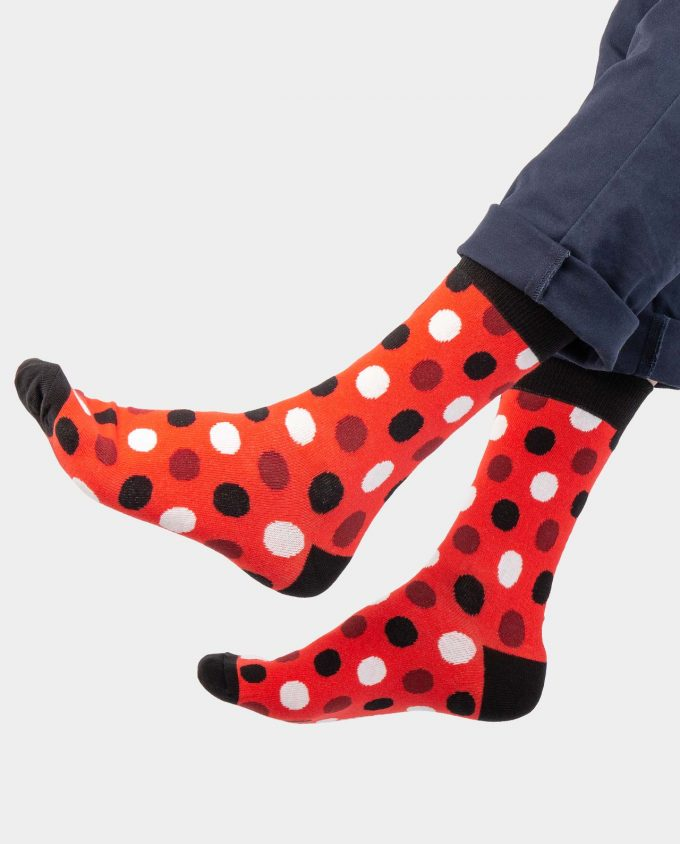 Orange Dot socks on legs, Colorful socks, Scented Socks, OhSox