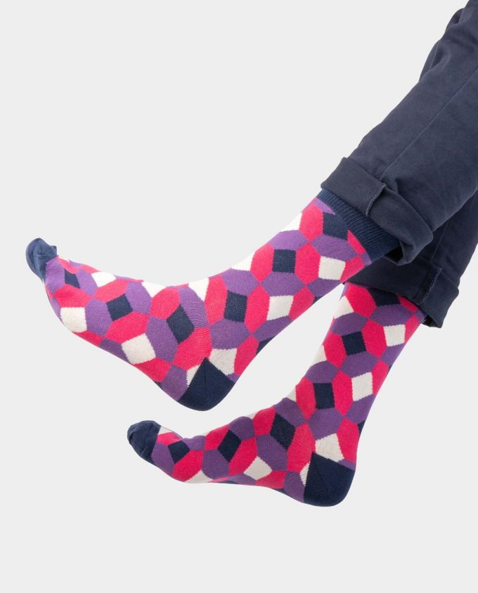 Rhombus socks on legs, Colorful socks, Scented Socks, OhSox