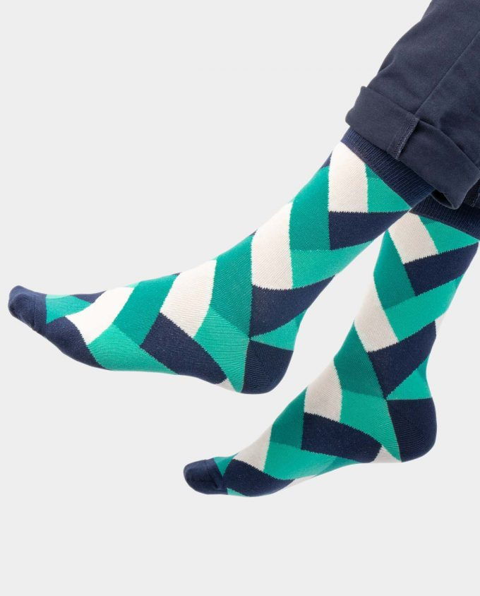 Fresh Mint socks on legs, Colorful socks, Scented Socks, OhSox