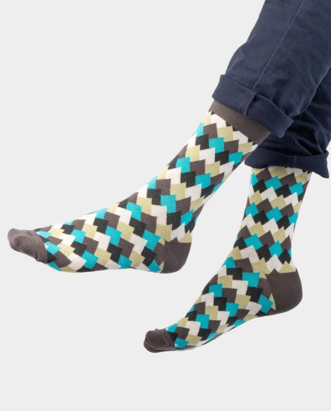 Mountain Tops on legs, Colorful socks, Scented Socks, OhSox