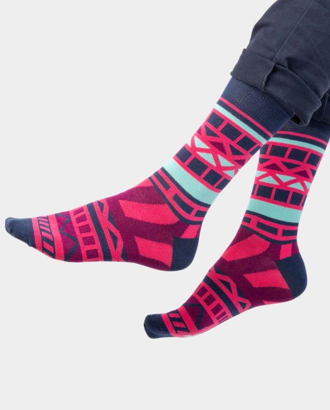 Nautical Rose socks on legs, Colorful socks, Scented Socks, OhSox