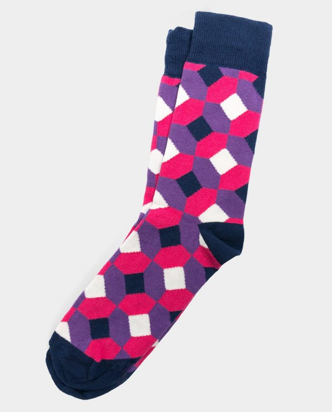 OhSox Colorful socks Rhombus socks
